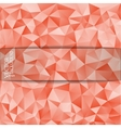 Abstract triangle background with a place vector image