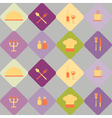 Seamless background with restaurant symbols vector image