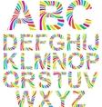 rainbow alphabet vector image vector image