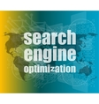 Search Engine Optimization - SEO Sign vector image vector image