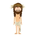 avatar jesus christ with crown of thorns vector image