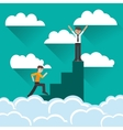 businessman on top of podium icon vector image
