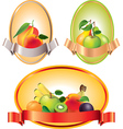 fruits labels vector image