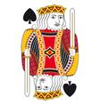 King of spades no card vector image