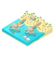 Isometric Tropical Beach Vacation Resort vector image vector image