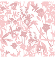 Cute seamless floral pattern vector image