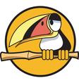 Toucan bamboo stick vector image