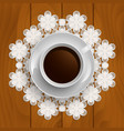 cup of coffee vector image