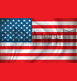 flag of usa with las vegas skyline vector image