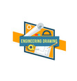 Construction engineering drawing tool icon vector image