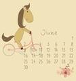 Calendar for June 2014 vector image