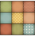 Vintage summer seamless patterns with swath tiling vector image