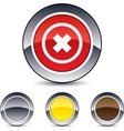 delete cross round button vector image