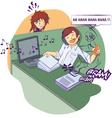 noisy office vector image