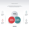 circle infographic vector image