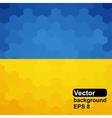 Ukrainian flag of geometric shapes vector image vector image