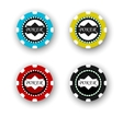 four poker chips isolated on white background vector image
