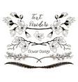 black floral text dividers flower design vector image