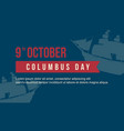 columbus day on blue background vector image
