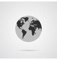 Gray Globe Icon with Dark Gray Continents vector image