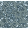Hand drawn colored floral seamless pattern vector image