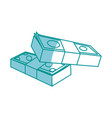 money concept stacked pile of hundred us dollar vector image
