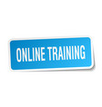 online training square sticker on white vector image