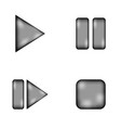 Play pause stop forward sign icon set vector image