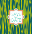 Save the date hipster style Wedding invitation vector image