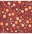 Seamless pattern with sweet candies isolated on vector image