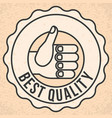 thumbs up hand sign vector image