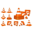 Traffic cones icon vector image