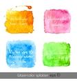 Watercolor splatters vector image