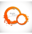 Grunge orange circles vector image