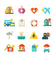 long life insurance flat icons family vector image vector image