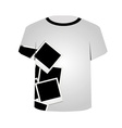 T Shirt Template- Polaroid Collage vector image