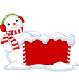 Christmas board and Snowmen vector image