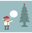 Businessman with christmas tree eps 10 vector image vector image