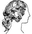 woman's face silhouette vector image