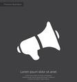 speaker premium icon white on dark background vector image