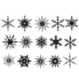 frosted snowflake elements 3 of vector image vector image