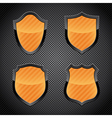 shield emblems vector image vector image