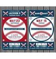 Baseball tickets vector image