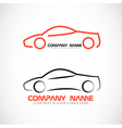 Car shape logo vector image