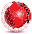 abstract globe icon vector image