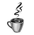 Hand-drawn cup vector image vector image