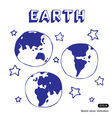 Earth and stars vector image vector image