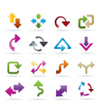 different kind of arrows icons vector image vector image