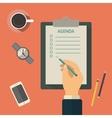 Agenda list concept Business vector image