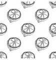 black and white fruit seamless pattern with lemons vector image